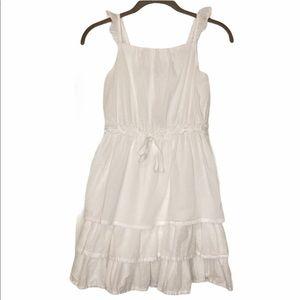 American Living White Layered Dress and Polka Dots